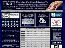 A dynamic Website Design for Luksus Diamonds